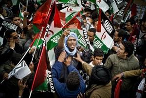 Proteste in Madrid für eine freie Westsahara im November 2010.