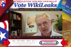 Der Spendenaufruf von Wikileaks.