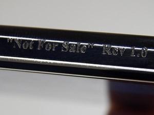 """""""Not For Sale"""": Das getestete Handy ist ein Vorserienmodell. Der Aufdruck erinnert verdächtig an den angeblichen Prototypen des LG Nexus."""