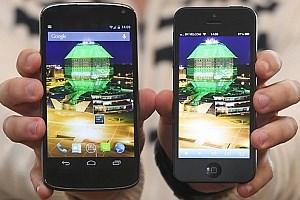 Der angebliche Prototyp im Vergleich mti dem iPhone 5.
