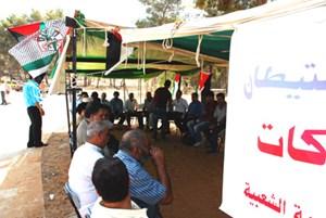 Talk im Zelt: im Zelt wird nach dem Gebet diskutiert und Kaffee getrunken. Immer wieder gibt es auch Kundgebungen.