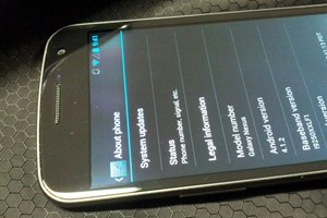 Galaxy Nexus mit Android 4.1.2.
