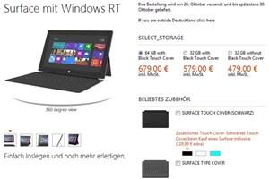 Nun auch im deutschen Microsoft Store: Das Surface RT.