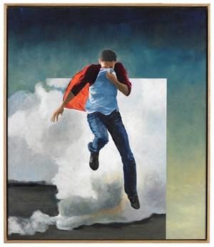 """Martin Schnur: """"Autonomer #1"""", 2012, Öl auf Kupfer."""