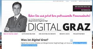 """""""Holen Sie sich jetzt Ihre professionelle Firmenwebsite!"""": Zur Verfügung gestellt von Bürgermeister Siegfried Nagl."""
