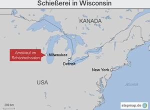 Die Tat ereignete sich in einem Vorort von Milwaukee im US-Staat Wisconsin.