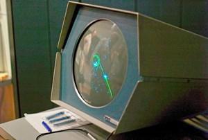 """""""Spacewar!"""" auf einem PDP-1."""