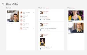 Bei Anmeldung mit dem Microsoft-Account kann Skype auf die Kontakte der PeopleApp zugreifen.