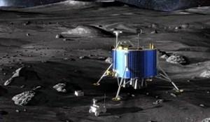 """Nach den derzeitigen Plänen soll der """"Lunar Lander"""" der ESA 2019 am Südpol des Mondes Landen und dort einen Rover aussetzen."""