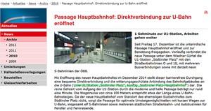 Im Archiv der Wiener Linien findet sich folgender Text, der angeblich aus dem Dezember 2010 stammt.