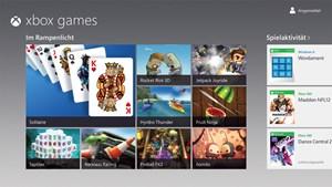 Windows 8 wird mit einigen exklusiven Games ausgeliefert. Über den Windows Store sind auch einige Portierungen von Xbox-Spielen erhältlich.