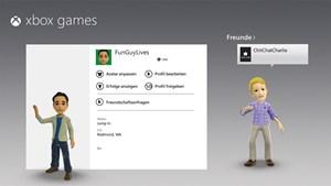 Verfügt man über einen Xbox-Live-Account, kann man über Windows 8 auch sein Profil bearbeiten und seinen Avatar gestalten.