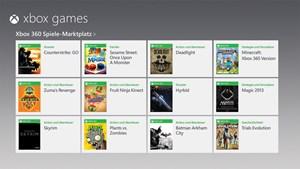 Weiters kann man auf seinen Xbox-Live-Account zugreifen, Spiele für die Konsole erwerben und diese dann sozusagen ferngesteuert für die Xbox 360 herunterladen.