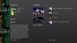 Beschreibungen und Empfehlungen in Xbox Video.