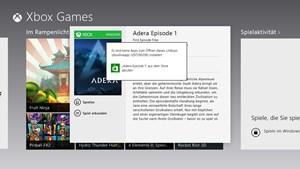 Xbox Games verweist zurück auf den Store.