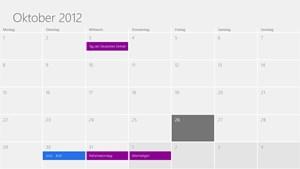 Einfach und übersichtlich: Der Kalender.