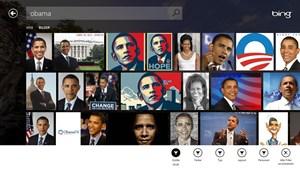 Bildersuche in der Bing-App.