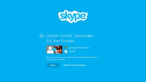 Skype for Windows 8 verpflichtet zur Account-Zusammenlegung.