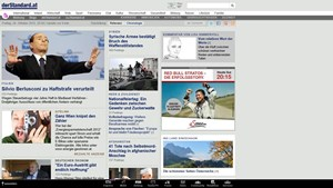 Erledigt seinen Job gut: Der touch-optimierte Internet Explorer.