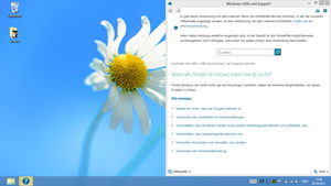 """Der Aufruf von Hilfedokumenten wirft den Nutzer aus der """"Windows 8""""-UI auf den Desktop. Auch erweiterte Systemeinstellungen sind nur über die klassische Systemsteuerung zu erreichen - die absolut touchfeindlich angelegt ist."""