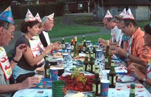 Das Krebsfest - auch am Campingplatz wird solcherart Feierlichkeit geboten (First Camp Mölle)