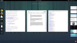 Der Überblick aller auf einem Workspace geöffneten Fenster nutzt den zur Verfügung gestellten Platz nun wesentlich effizienter.