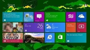"""Das neu gestaltete Startmenü mit der """"Windows 8 UI"""" (formerly known as """"Metro"""")."""