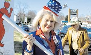 """Nur nicht das Recht auf Waffenbesitz verlieren: Wahlhelferinnen werben am Straßenrand für die ultrakonservative Tea Party: Reportage """"Ich will mein Land zurück"""" um 21 Uhr auf Arte."""