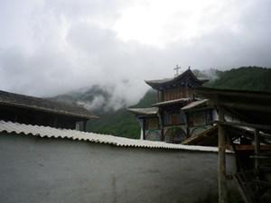 Eine tibetische Kirche.