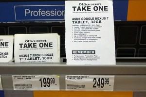 Bereits im Handel gesichtet: Das 32-GB-Nexus-7.