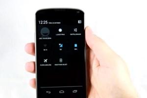 Die Schnelleinstellungen von Android 4.2 auf einem Nexus 4.
