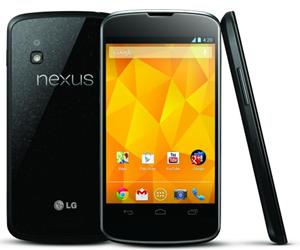 Das Nexus 4 weist äußerlich große Ähnlichkeiten zum Vorgänger Galaxy Nexus auf. Sowohl Vorder- als auch Rückseite sind aus (Gorilla-)Glas, wobei ein Kunststoffrahmen auf der Seite verhindern soll, dass dieses allzu leicht beschädigt wird.