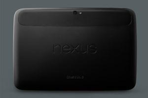 Die Rückseite des Nexus 10.