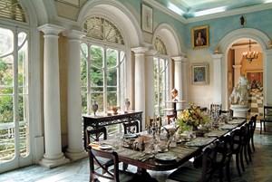 Das Speisezimmer der Casa Rocca Piccola.