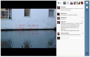 """Auf Instagram wird Hurrikan """"Sandy"""" ausführlich dokumentiert, die Echtheit der Bilder ist freilich manchmal etwas fragwürdig ..."""