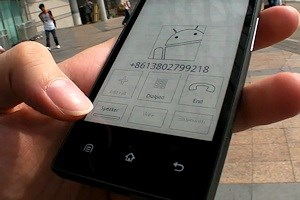 Lange Laufzeit, hohe Lesbarkeit: Das E-Ink-Phone von Onyx.