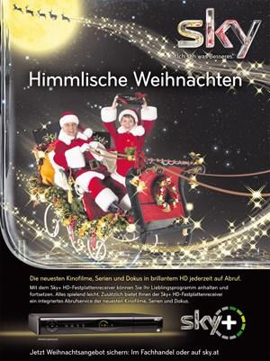 Printsujet der Sky-Weihnachtskampagne 2012.