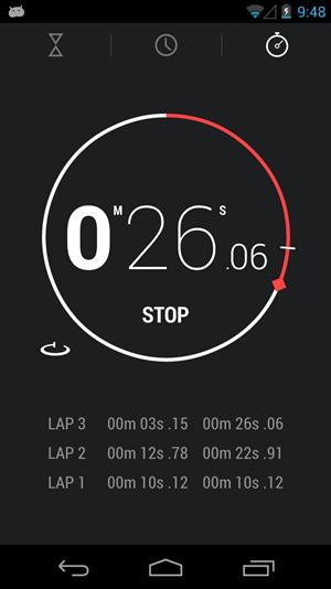 Auch die neue Uhren-App gibt es mittlerweile zum Download - samt Stoppuhr und Timer.