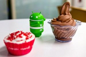 Wenn bei Google / Android gefeiert wird, stehen allein schon aus Codenamensgründen genügend Süßspeisen zur Auswahl.