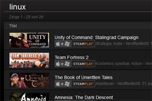 Steam bringt viele Spiele für Linux.
