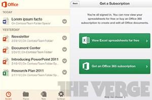 """Laut """"The Verge"""" sollen die Office-Apps für iOS-Apps im Februar erscheinen. Die Varianten für Android sollen im Mai folgen."""