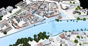 Eine Software visualisiert bei Hochwasser, welche Stadtteile bei einem etwaigen Bruch von Schutzwällen am stärksten betroffen sein werden.