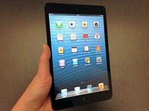 Mit dem 7,9 Zoll großen Display  einem Gewicht von 308 Gramm in der WLAN- bzw. 312 Gramm in der 3G-Version, liegt das iPad Mini leicht in der Hand.