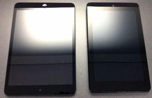 Vergleich mit dem Nexus 7 (rechts).
