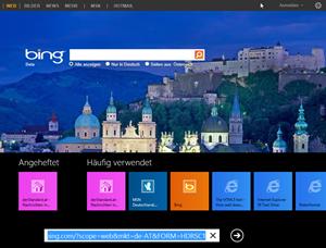 Eine der zentralen Neuerungen des Internet Explorer 10 ist das frisch gestaltete Interface für Windows 8 - dieses wird es aber unter Windows 7 natürlich nicht geben.