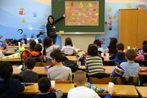 Klassenpremiere im Erstaufnahmezentrum Traiskirchen.
