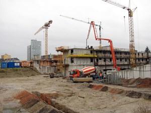 """Bei der """"Grünen Mitte"""" ist erst ein Objekt in Bau, nämlich jenes der GWG mit 62 Wohnungen."""