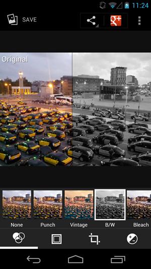 Deutlich überarbeitet wurden hingegen die Bildbearbeitungseffekte, dies samt einer netten Vorschau-/Vergleichsmöglichkeit.