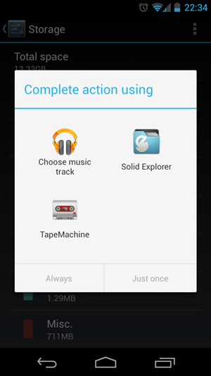 Ein kleiner Tipp: Bei der App-Auswahl zum Öffnen eines bestimmten Dateityps, reicht nun ein Doppel-Touch auf das zugehörige Icon.