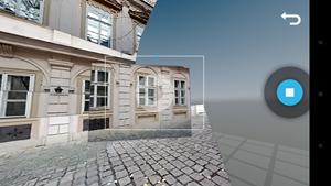 Die Erstellung von Photo Spheres ist denkbar einfach, es muss nur den blauen Punkten am Display gefolgt werden.